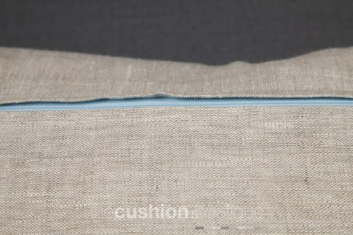 Blue zip to complement the Chambray Blue cushion front