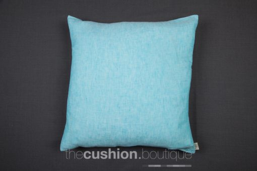 Pop of Chambray Blue with Linen cushion