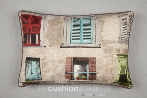 Featuring beautiful coloured French shutters